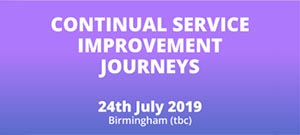 Continual Service Improvement Journeys