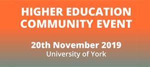 Higher Education Community Event @ University of York